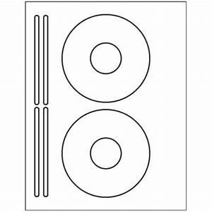 200 Cd Or Dvd Labels - 2 Labels  U0026 4 Spines Per Sheet