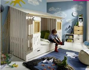 Lit Garçon Original : lit cabane enfant lit surelev pour fille et gar on lit cabane enfant 5 ans 6 ans 7 ans 8 ~ Preciouscoupons.com Idées de Décoration