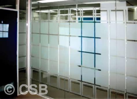 window frosting calgary glass etching  office windows
