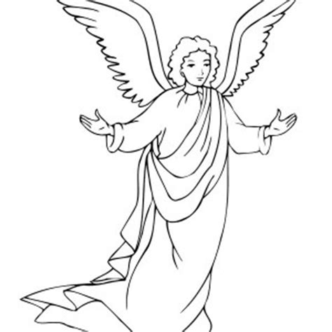 angel gabriel coloring page  getcoloringscom
