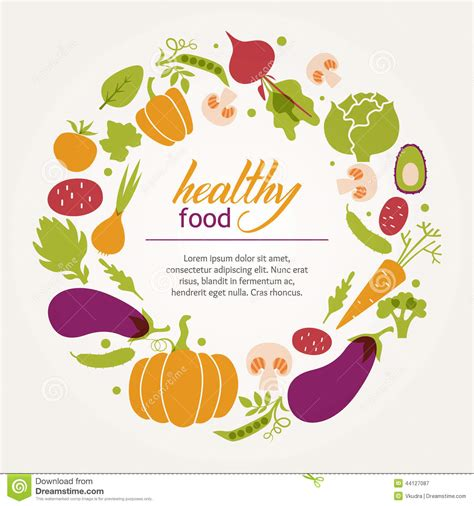 articles cuisine set of vegetables healthy food table stock vector