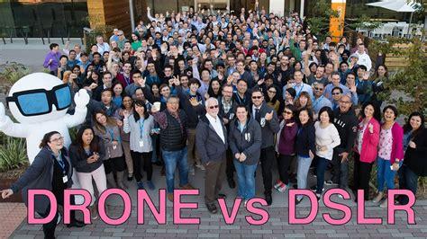 setup  dji mavic pro drone  large group  team photo compared