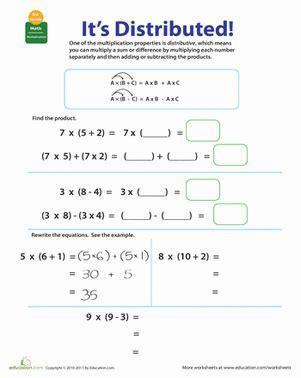 distributive property of multiplication worksheets 5th grade properties of multiplication distributive worksheet