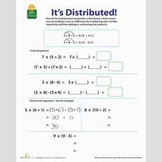 Properties Of Multiplication Distributive  Worksheet Educationcom