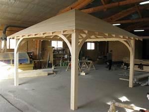 Construire Une Pergola En Bois : pergola carr 3m x 3m en bois en kit sans permis de construire ~ Premium-room.com Idées de Décoration
