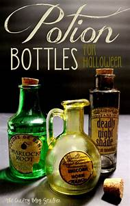 how to make potion bottles for halloween the crafty blog With how to make labels for bottles