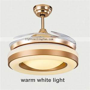 Inch copper fans gold color invisible blade ceiling fan