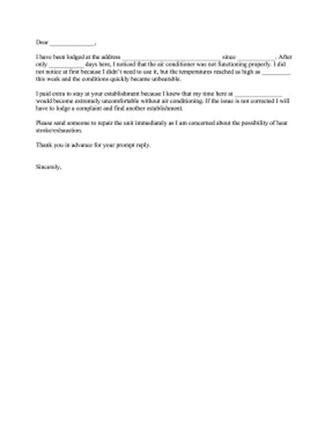 Air Conditioner Complaint Letter