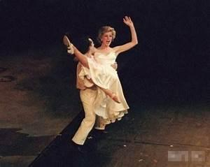 December 1985 Princess Diana dancing with Wayne Sleep to