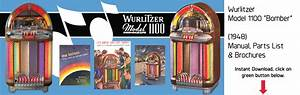 Wurlitzer Jukebox Manuals  U0026 Literature  Instant Pdf