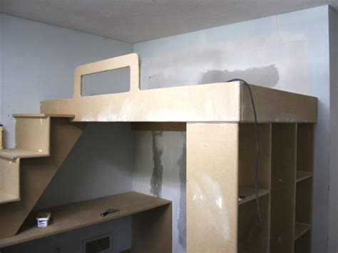 diy loft bed with desk build your own bunk bed with desk quick woodworking projects