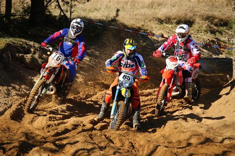 3 Motocross Dirt Bikes Free Image