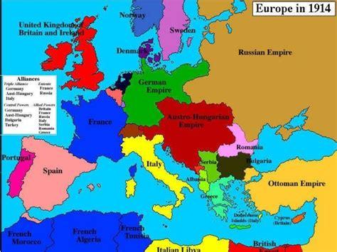 map  europe     great war world war