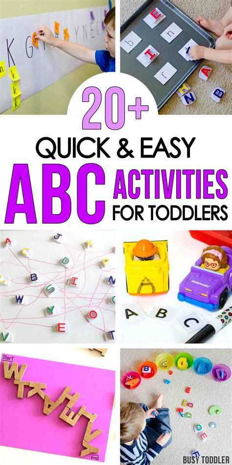 50 alphabet activities for toddlers busy toddler 782 | INDOOR ACTIVITIES PIN