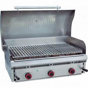 Barbecue Gaz Pierre De Lave : grill pierre de lave pbi90 mainho avec couvercle bomb inox ~ Dailycaller-alerts.com Idées de Décoration