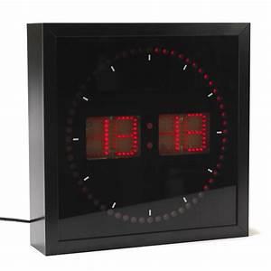 Horloge Murale Led : horloge led guide d 39 achat ~ Teatrodelosmanantiales.com Idées de Décoration