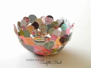 Make a Paper Mache Confetti Bowl » Dollar Store Crafts