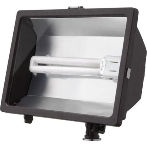 lithonia lighting outdoor fluorescent bronze flood light