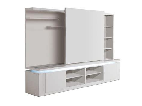 meuble coulissant cuisine mur tv design avec porte coulissante et éclairage mallaury
