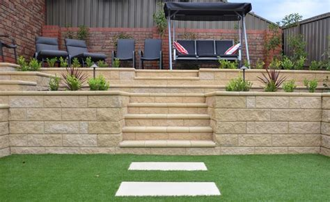 concrete block retaining walls adelaide design exles