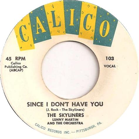 45cat the skyliners since i don t you one