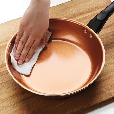 quart copper ceramic nonstick straining saucepan farberware cookware