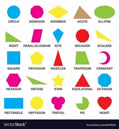 Shapes Geometric Understanding Educational Vector