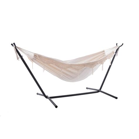 Vivere Hammocks by Vivere Vivere 9 Ft Cotton Hammock With Stand In