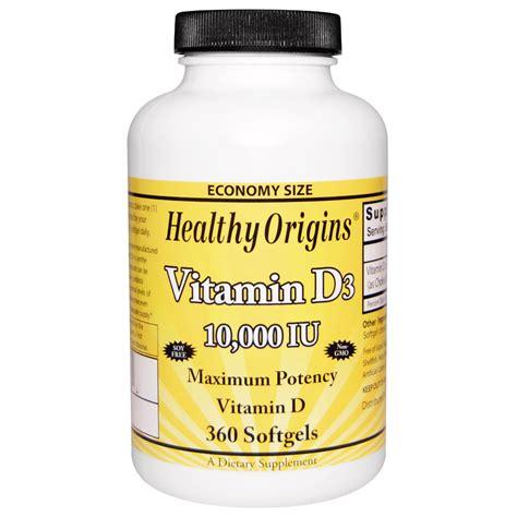 vitamin d l healthy origins vitamin d3 10 000 iu 360 softgels