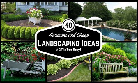 cheap garden ideas 40 awesome and cheap landscaping ideas 27 is easy