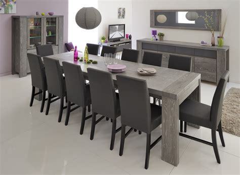 salle a manger contemporaine grise table de salle 224 manger contemporaine extensible ch 234 ne gris 233 verre laqu 233 gris indila tables et