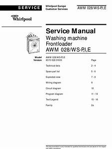 Whirlpool Awm028 Washing Machine