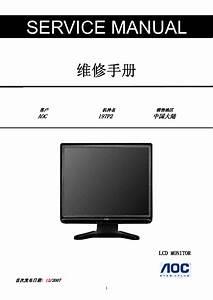 Aoc E2236vwa Lcd Monitor Service Manual Download