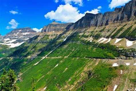 Summer Vista, Garden Wall, Glacier National Park Stock