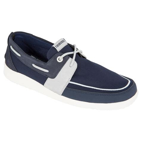 Boat Shoes Navy Blue by Sailing 100 S Boat Shoes Navy Blue Tribord