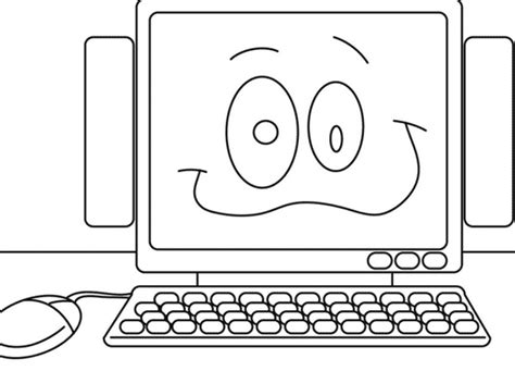 Coloring On Computer by Computer Coloring Pages Coloringpages 467406 171 Coloring