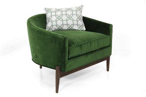 deco chair in emerald velvet modshop