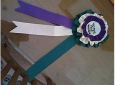 My reproduction suffragette rosette! Event 100th