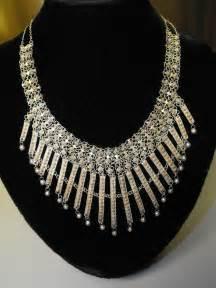 Silver Eastern Mediterranean Antique Bib Style Necklace ...