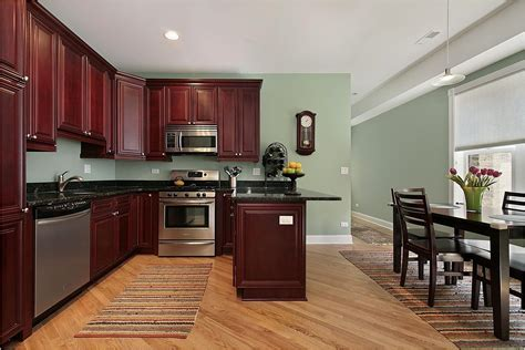 wall color with cherry cabinets best home renovation 2019