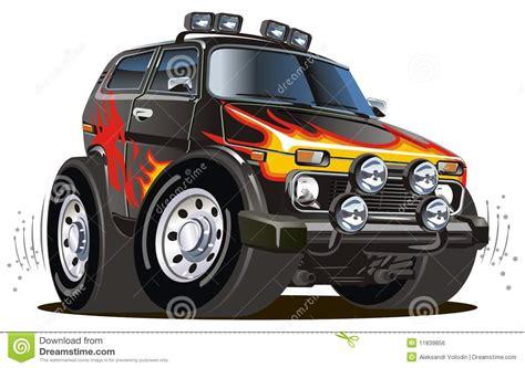 jeep easter bunny motorized cartoon easter bunny vector illustration