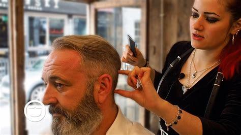 asmr  school haircut  beard trim cut  grind