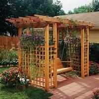 garden trellis plans Garden Arbor Getaway Woodworking Plan from WOOD Magazine