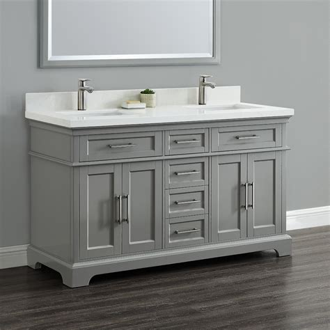 Dual Bathroom Vanities by Cameron 60 Quot Sink Vanity Mission Furniture