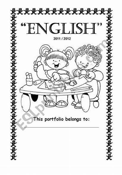 English Portfolio Worksheet Esl Thank