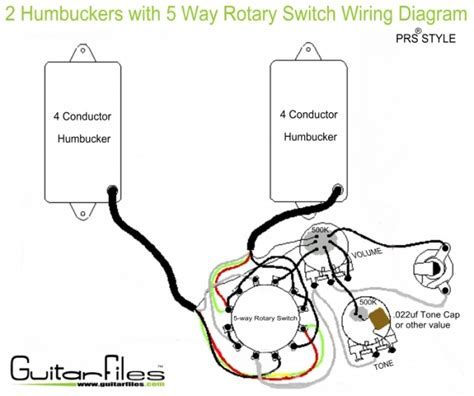 Humbuckers With Way Rotary Switch Wiring Diagram