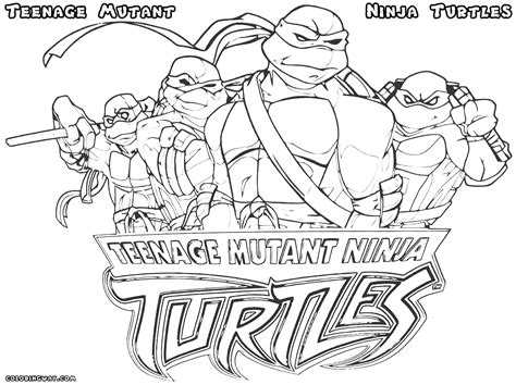 Revisited Ninja Turtle Color Page Teenage Mutant Turtles