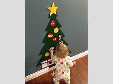 Put up a felt Christmas tree DIY Holiday Crafts for the