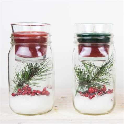jar christmas candle holder diy christmas mason jar candle holder