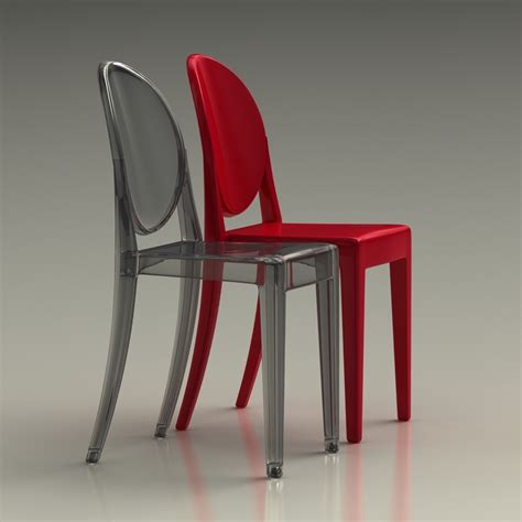 kartell chaises chaise ghost starck ghost stackable